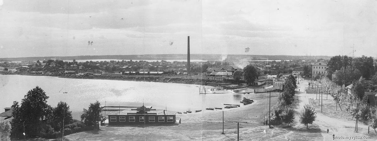 Панорама с колокольни. Выкса — фото старой Выксы