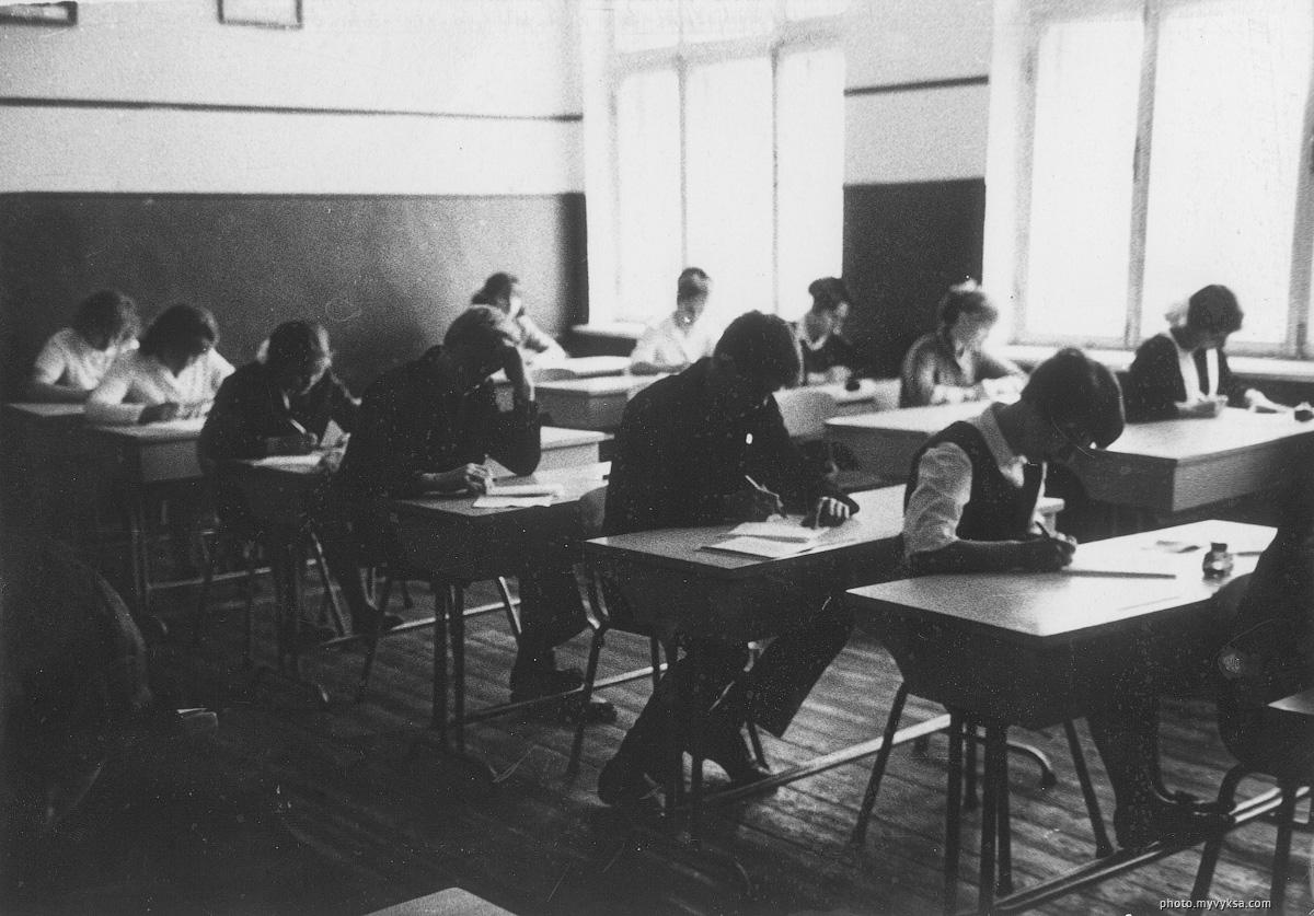 В классе 12 школы. Выкса — фото старой Выксы