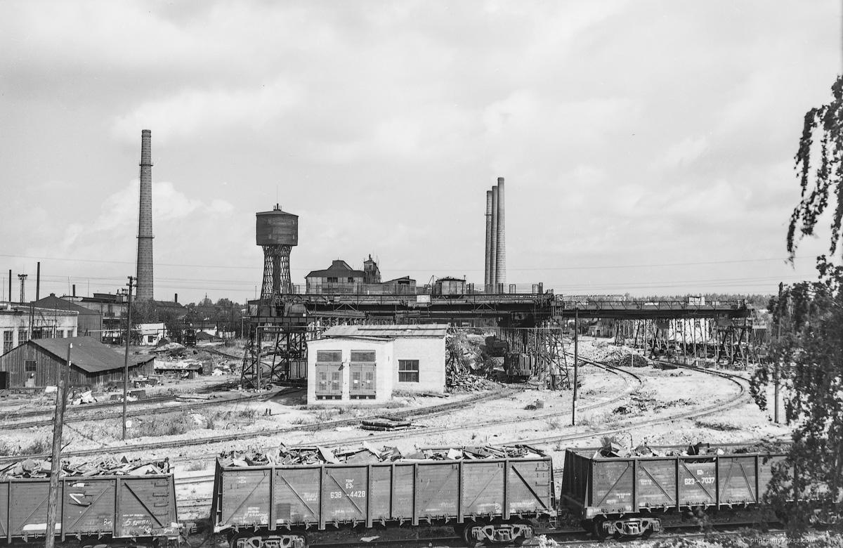 Мартеновский цех и Шуховская башня. Выкса — фото старой Выксы