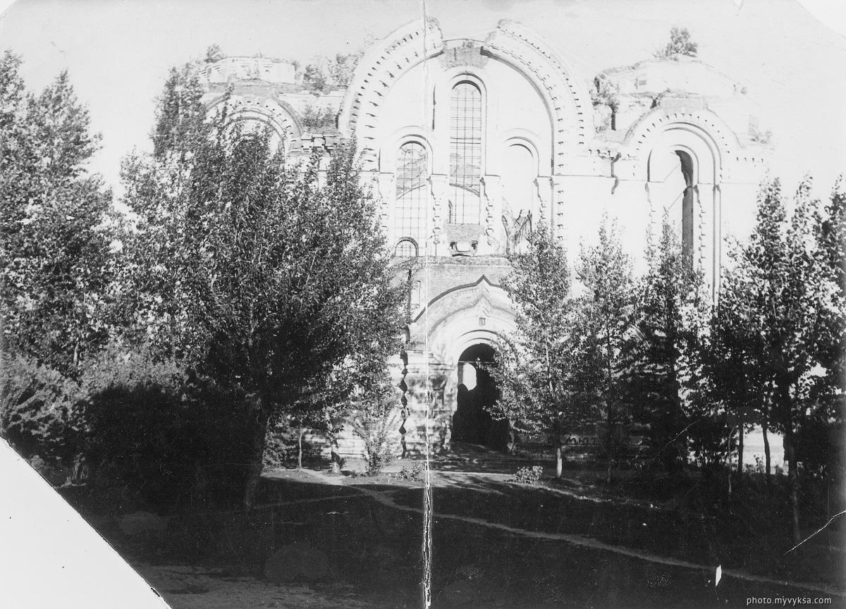 Руины главного храма. Выкса — фото старой Выксы