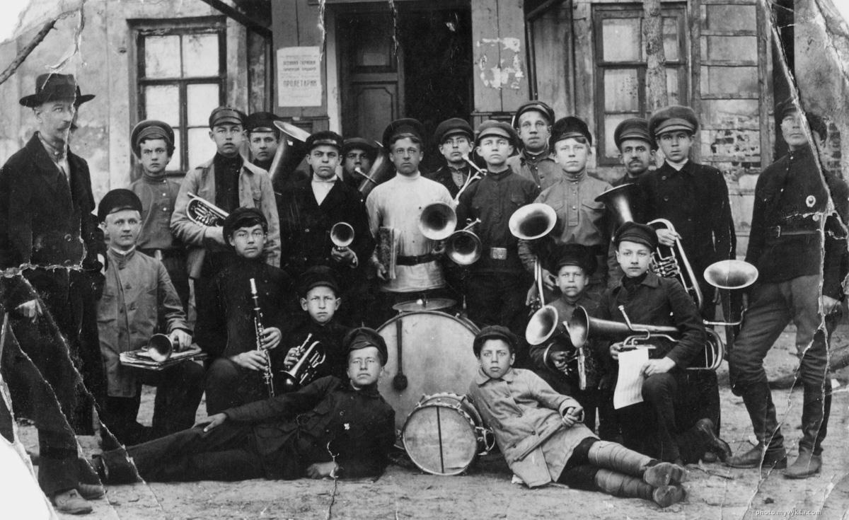 Духовой оркестр. Выкса — фото старой Выксы