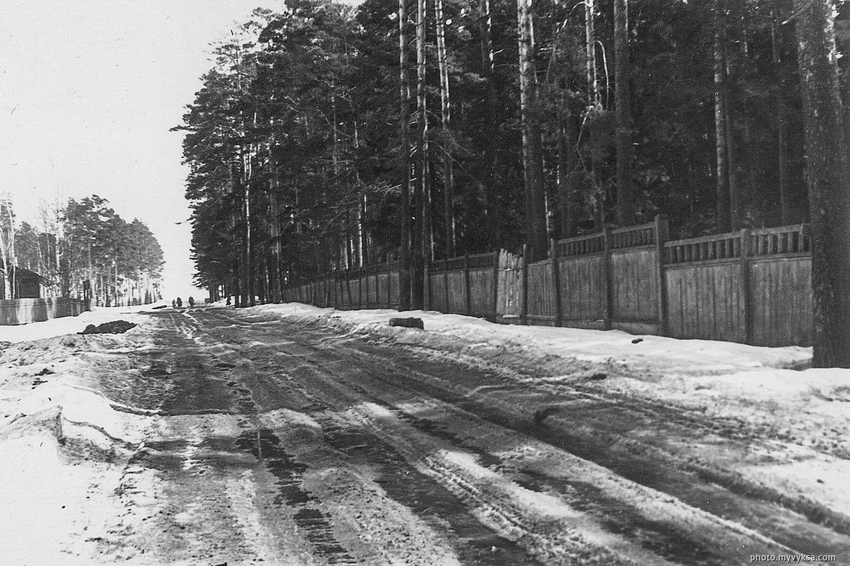 Улица Островского у парка — фото старой Выксы