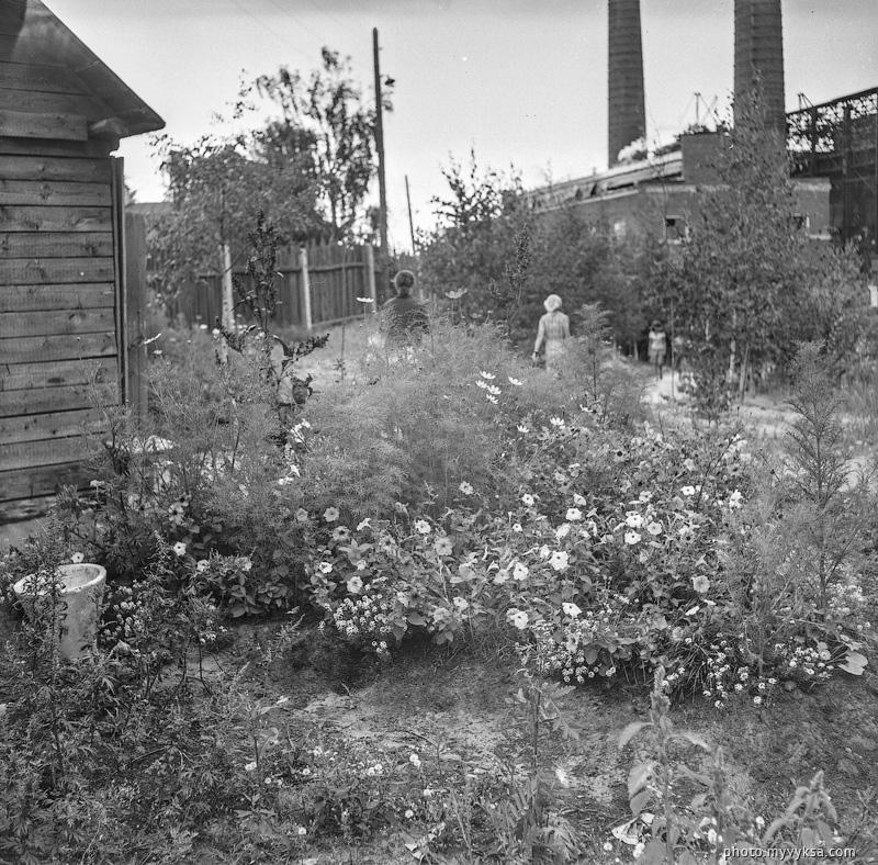 Цветы у проходной ВМЗ. Выкса — фото старой Выксы