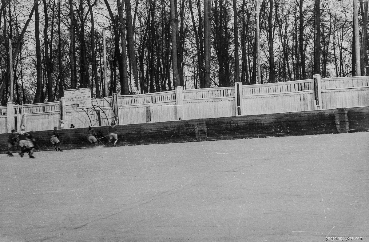Хоккей на стадионе Металлург. Выкса