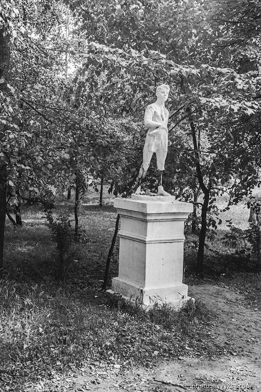 Памятник пионеру в ПКиО. Выкса — фото старой Выксы
