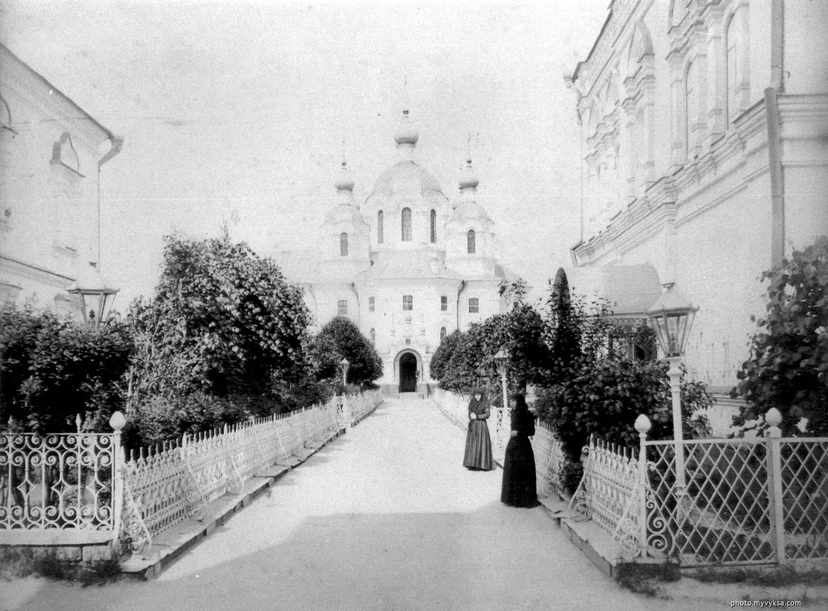 Иверский собор с юга. Иверский выксунский женский монастырь. Выкса
