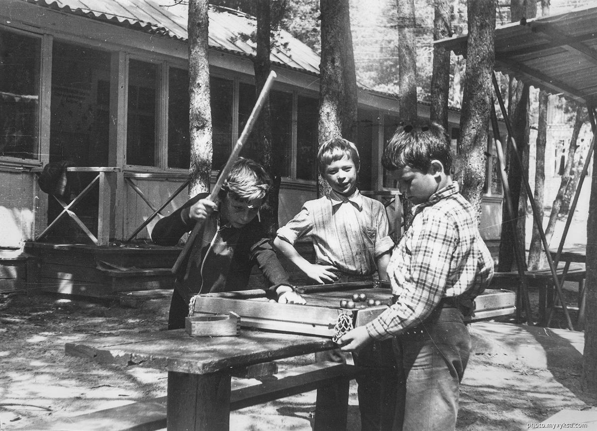 Бильярд в лагере. Выкса — фото старой Выксы