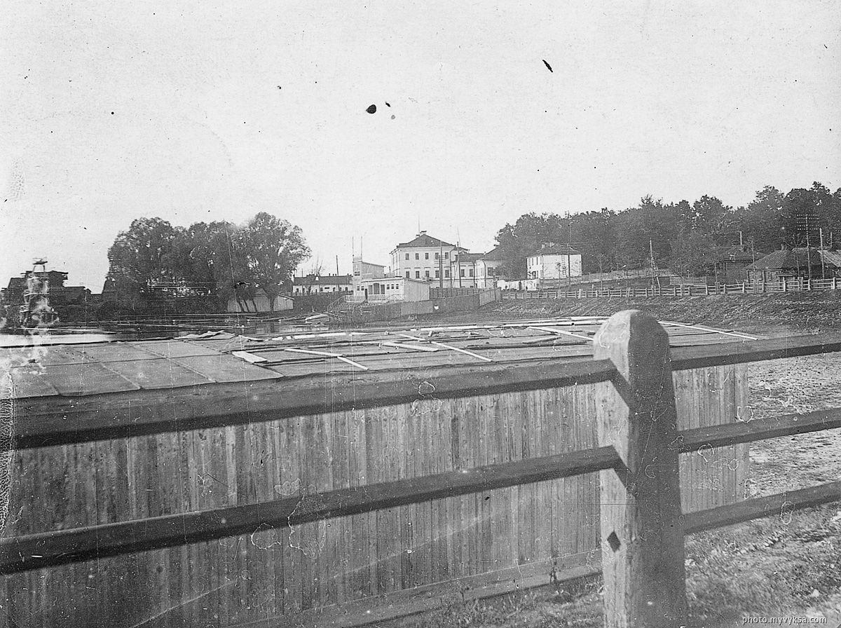 Вид на верхний пруд. Выкса — фото старой Выксы