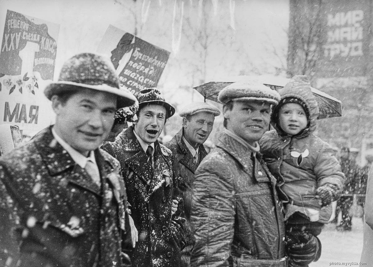 Снежная демонстрация. Выкса — фото старой Выксы