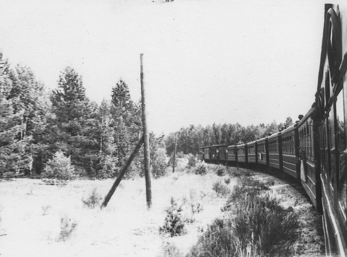 Поезд в лагерь им Павлика Морозова 1964 г. Выкса — фото старой Выксы