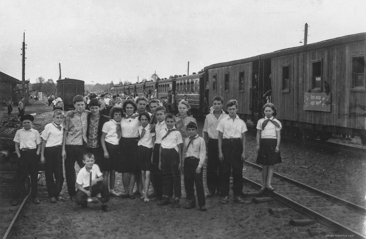 Пионеры лагеря им. Павлика Морозова. 1964 г. Выкса — фото старой Выксы