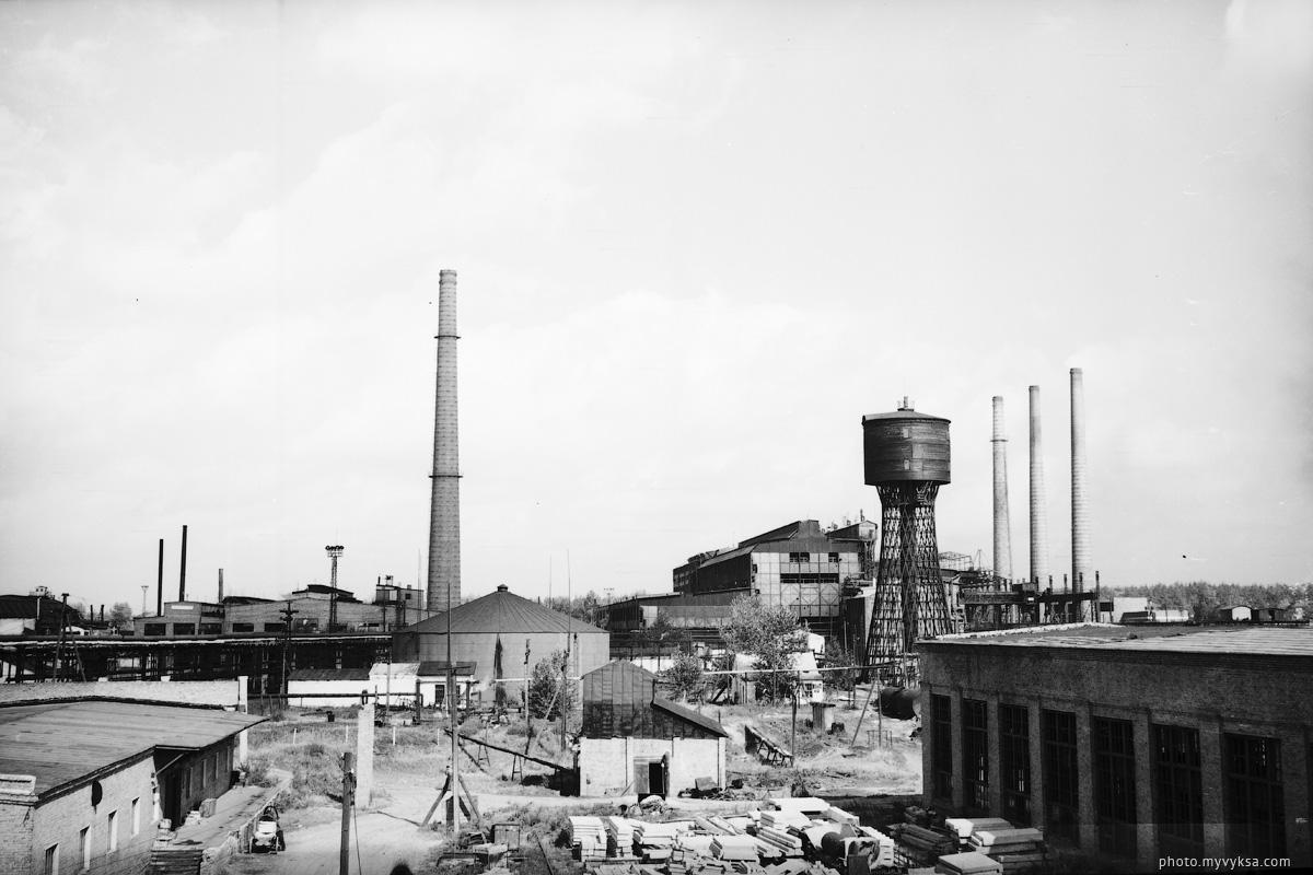 Вид на башню Шухова. Выкса — фото старой Выксы