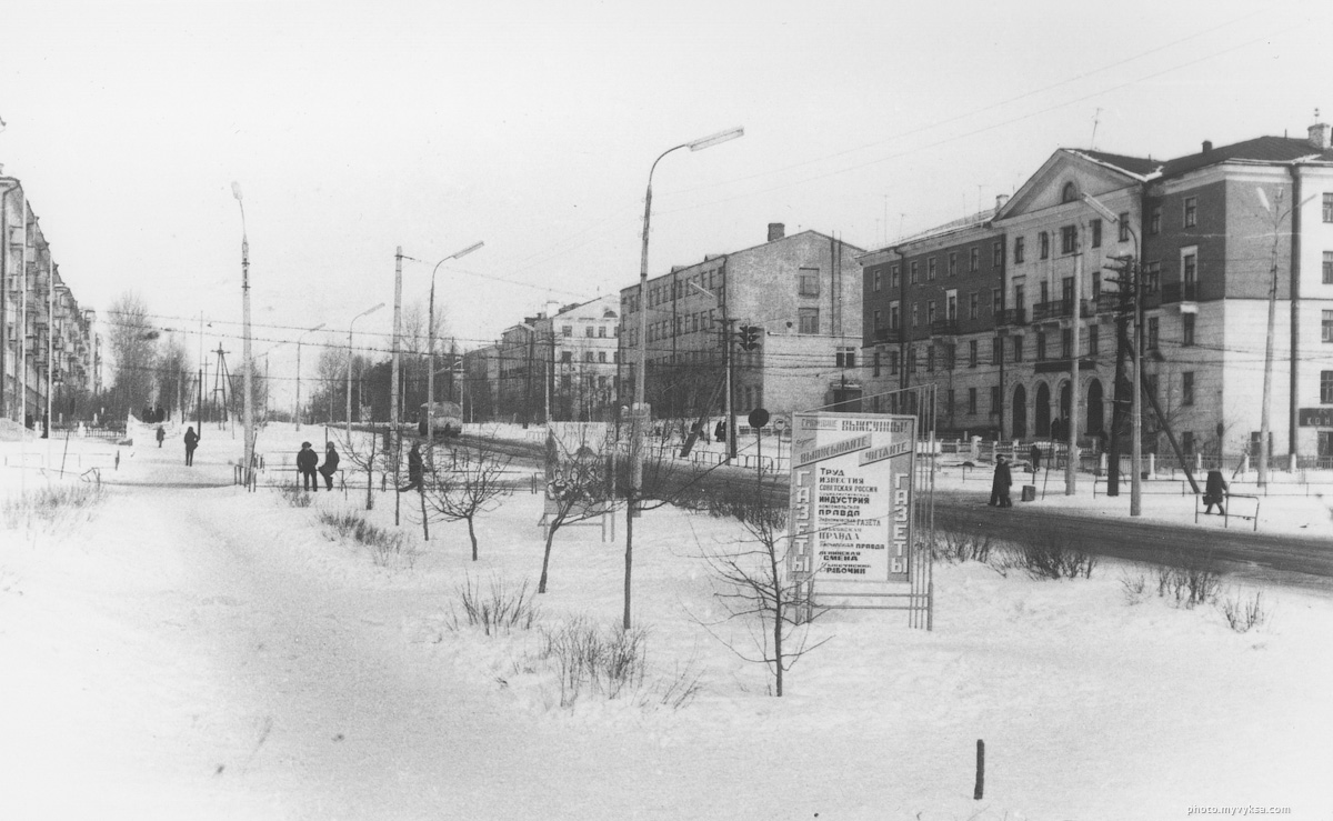 Реклама газет на улице Красные Зори. Выкса