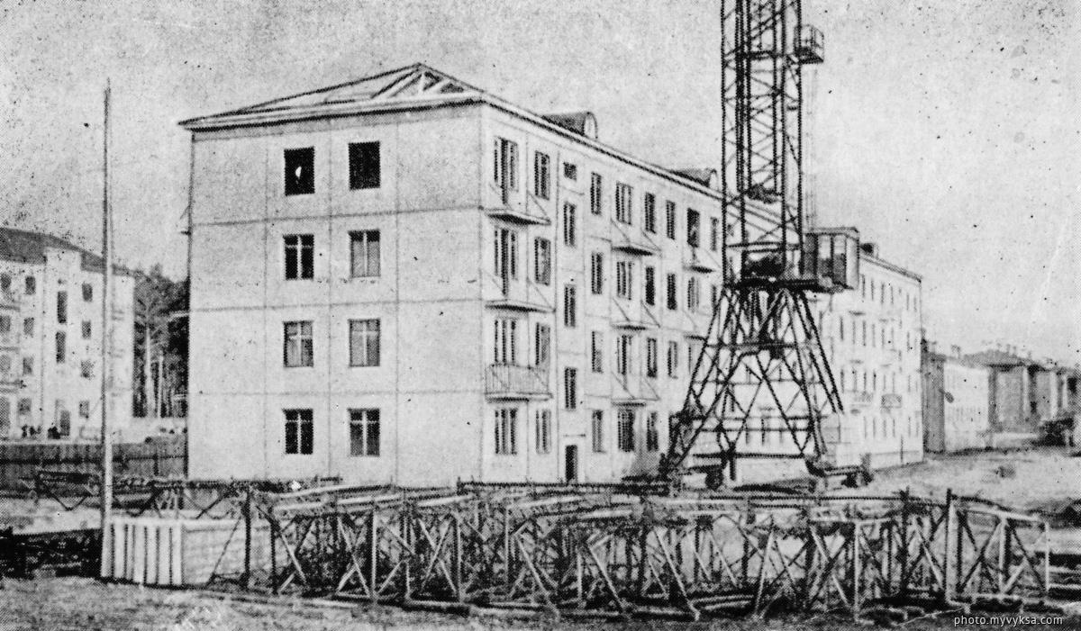 Строительство панельного дома. Выкса — фото старой Выксы