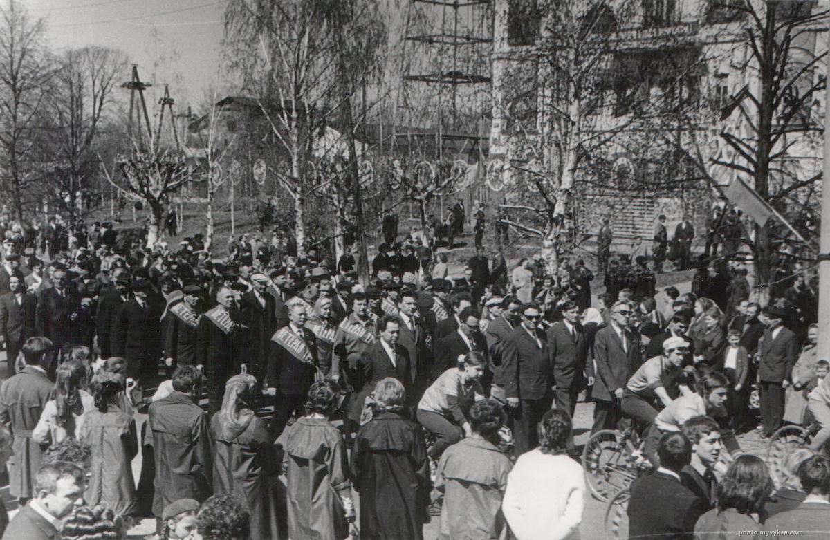 Ветераны на первомайской демонстрации.