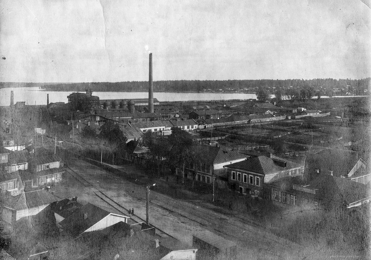 Вид на Верхний завод, Верхний пруд. Сделано с ДК им Лепсе. — фото старой Выксы