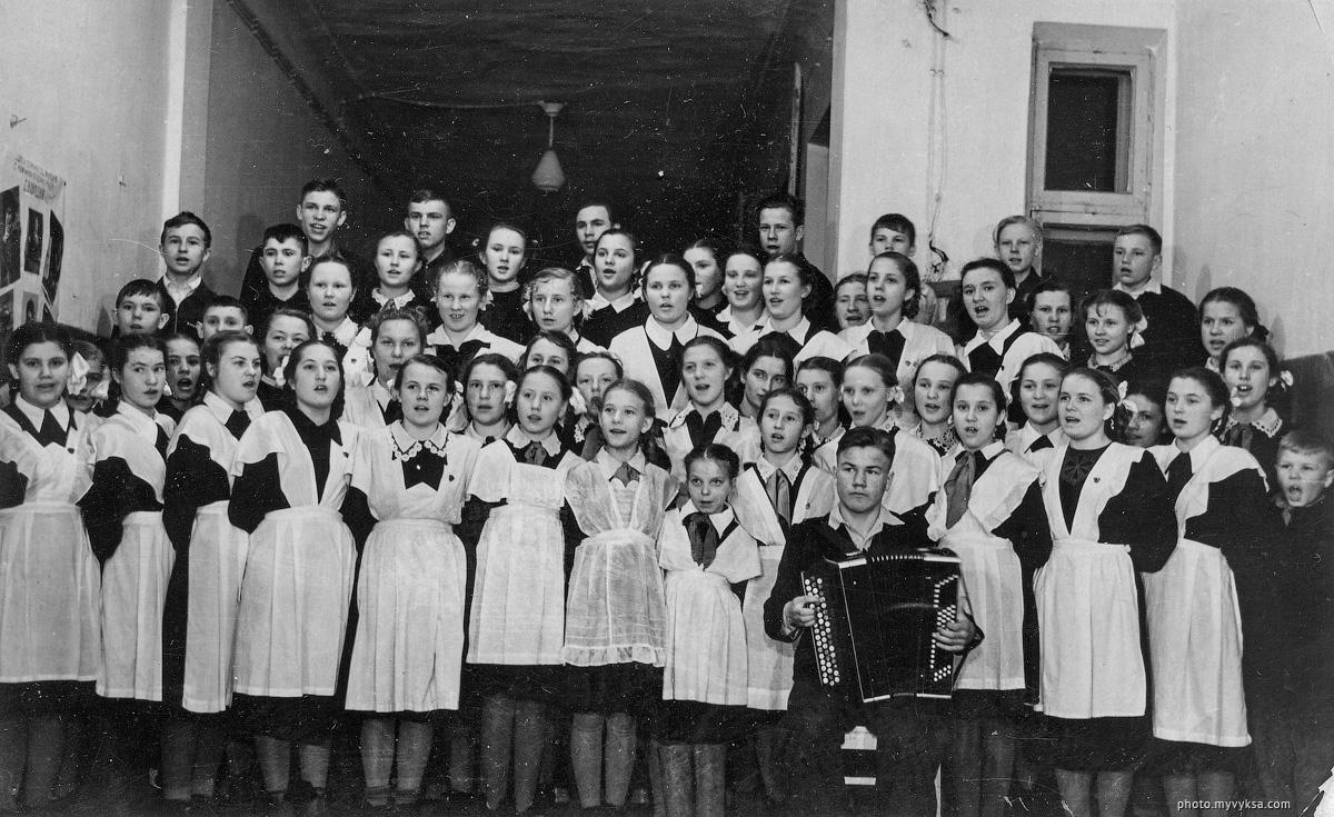 Хор школы №8. Выкса — фото старой Выксы
