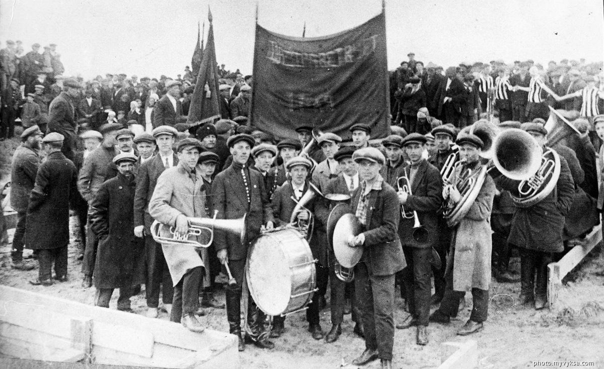 Закладка новомартеновского цеха — фото старой Выксы